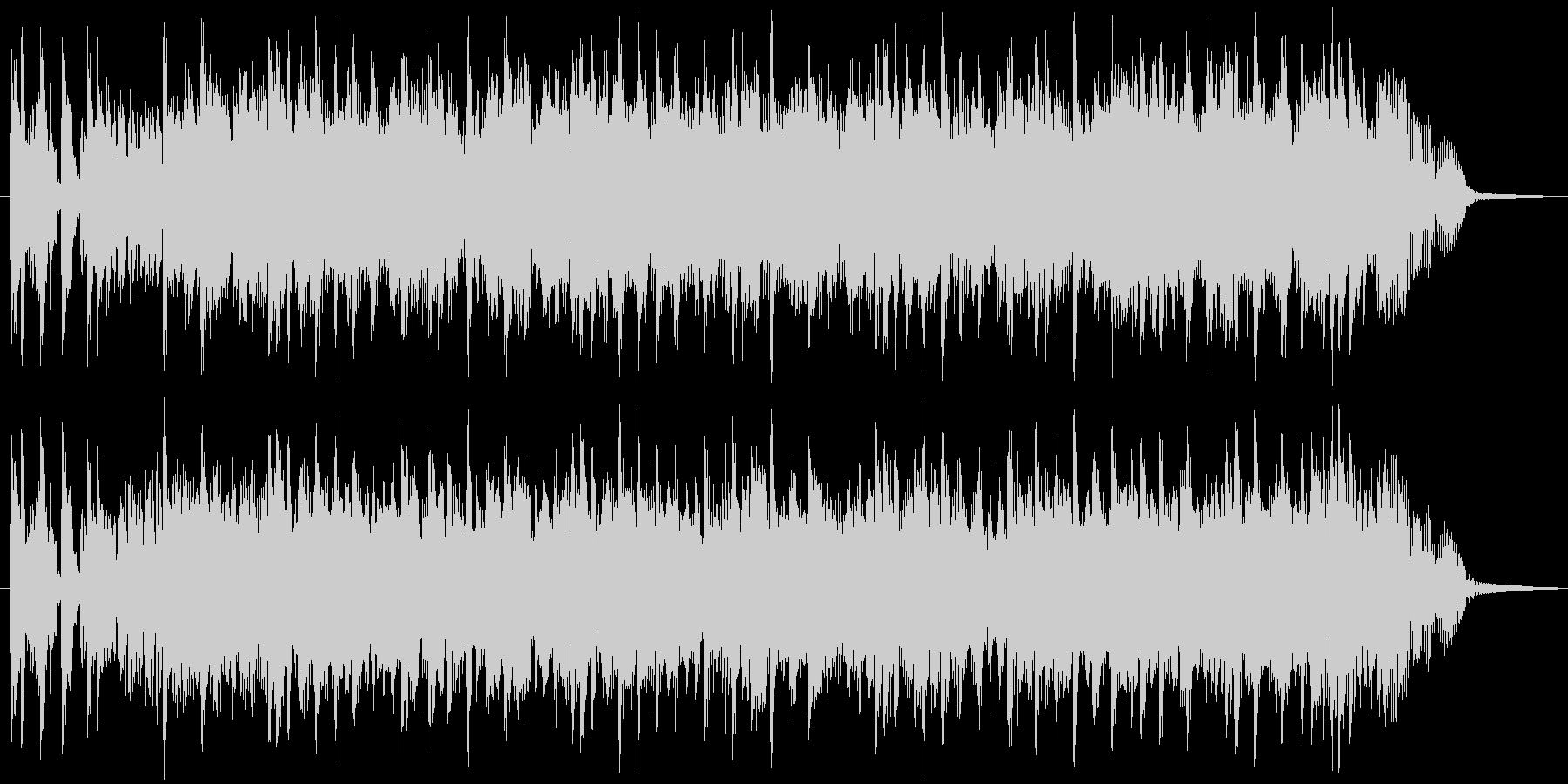 スピード感溢れるファンク&シンセの未再生の波形
