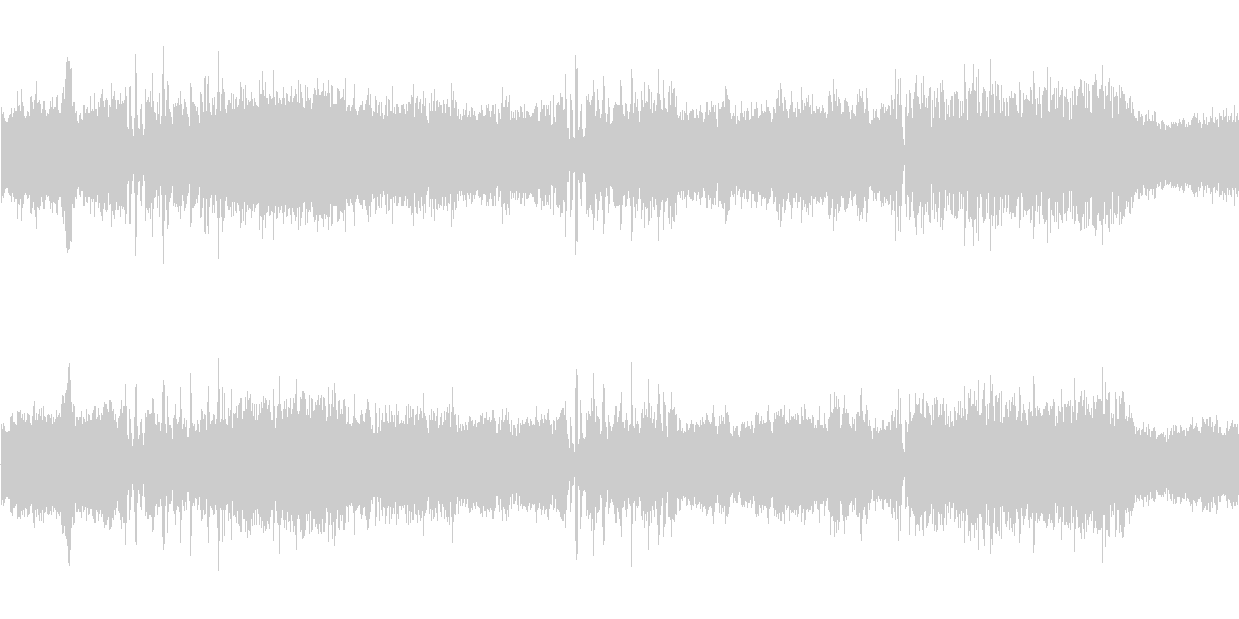 バトル光臨オーケストラエレキの未再生の波形