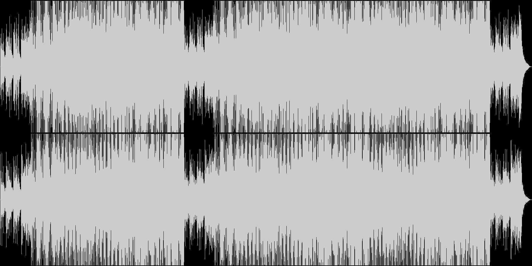 映像用普段のシーンに合う楽しい楽曲の未再生の波形