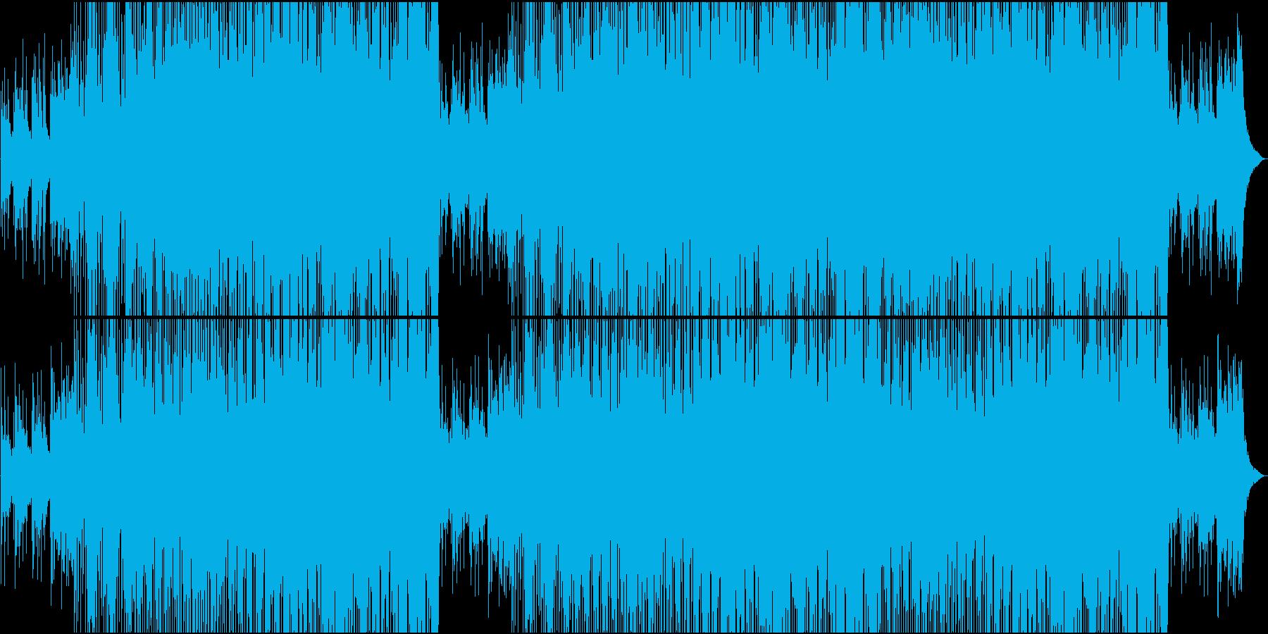 映像用普段のシーンに合う楽しい楽曲の再生済みの波形