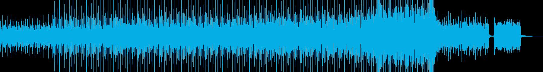 夜明け始まるピアノサックスオルガンギターの再生済みの波形