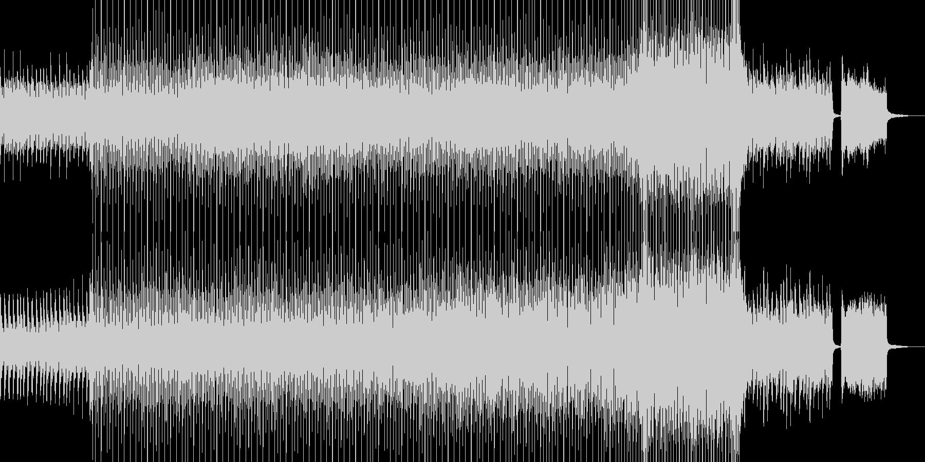 夜明け始まるピアノサックスオルガンギターの未再生の波形