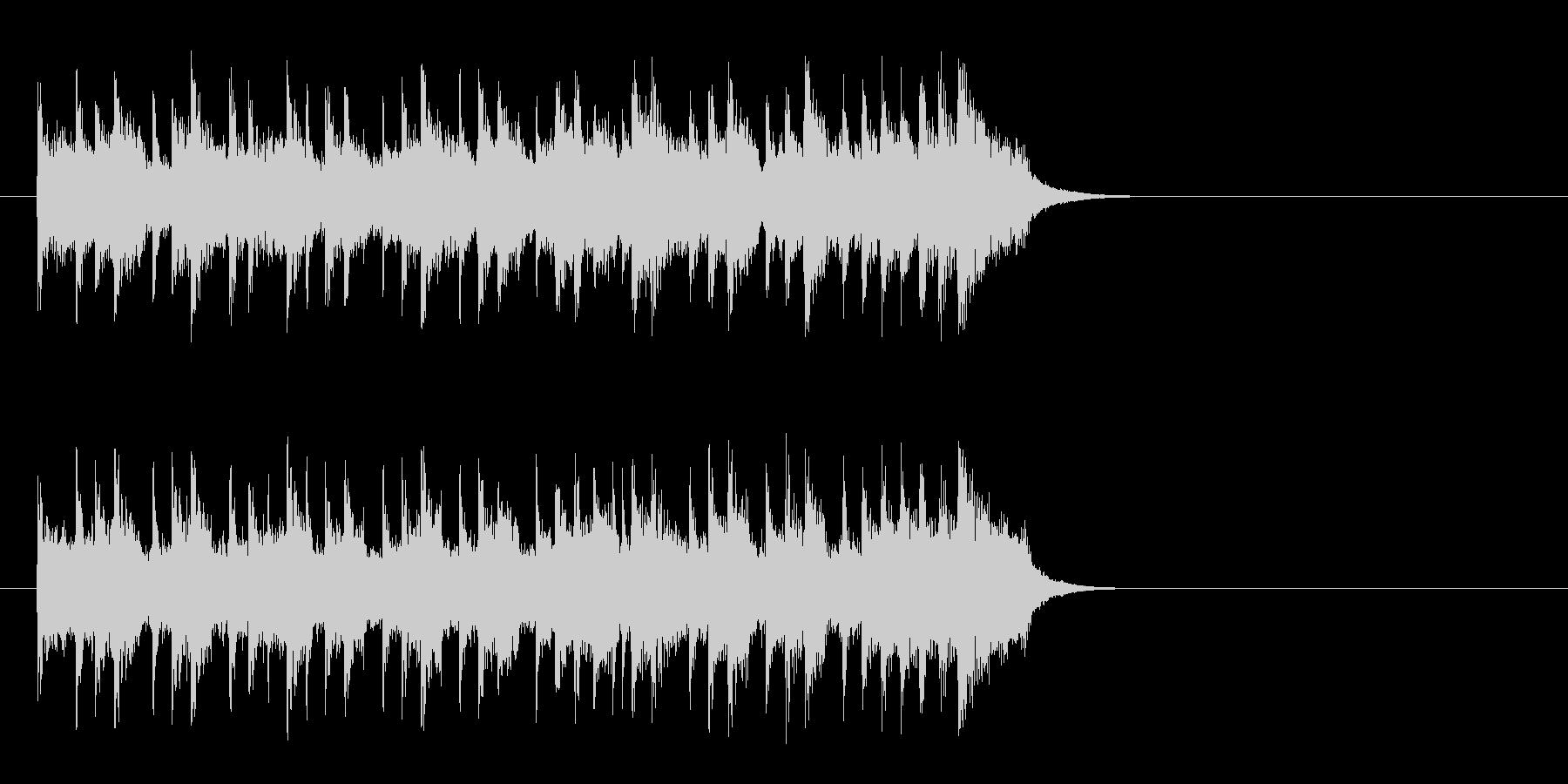 昼下がりの洋風ポップス(イントロ)の未再生の波形