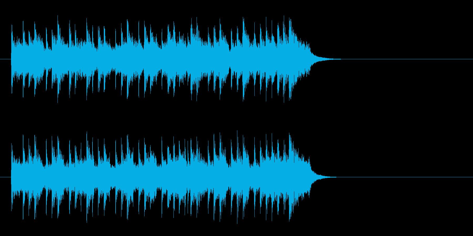 昼下がりの洋風ポップス(イントロ)の再生済みの波形