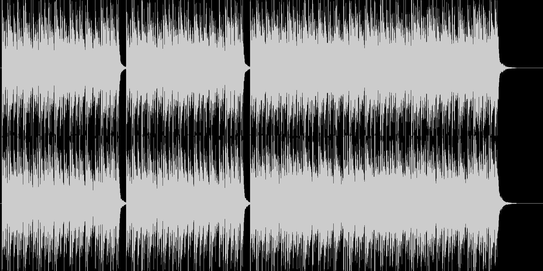 エレクトロなクラブ系ビートの未再生の波形
