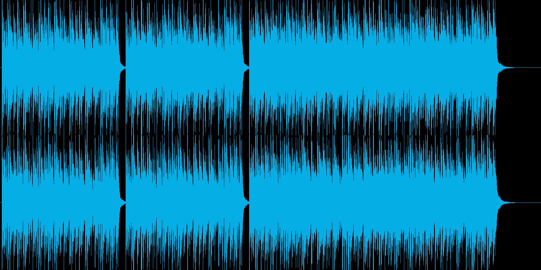 エレクトロなクラブ系ビートの再生済みの波形