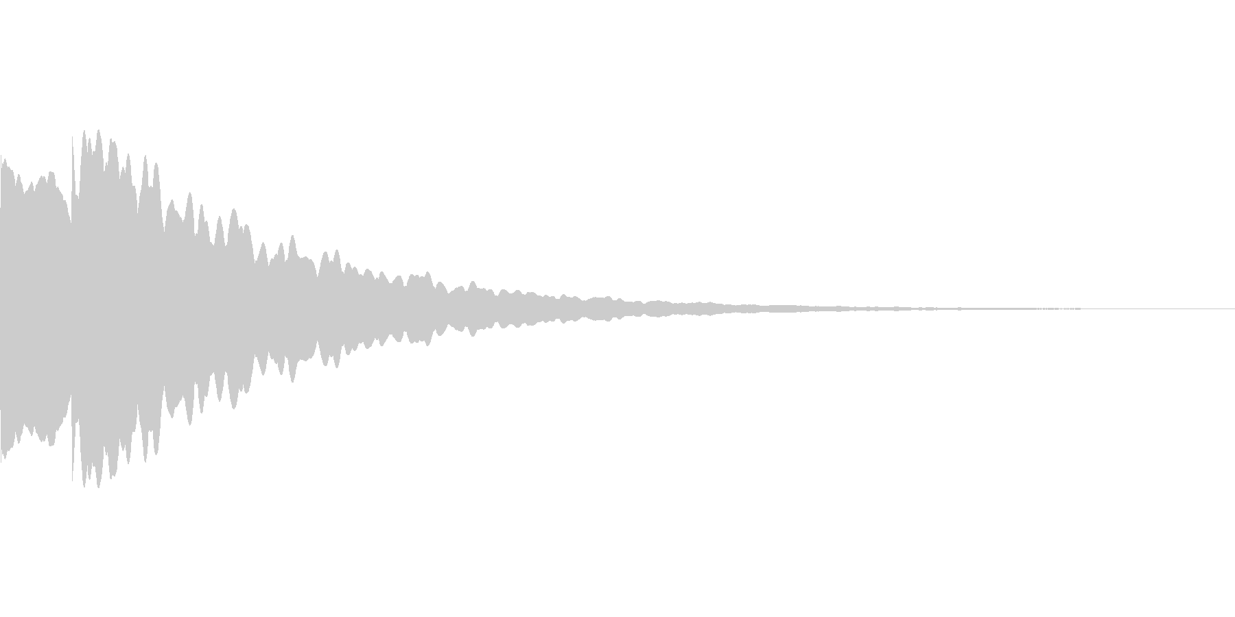 光イメージ音 ピキーン_02_モノの未再生の波形