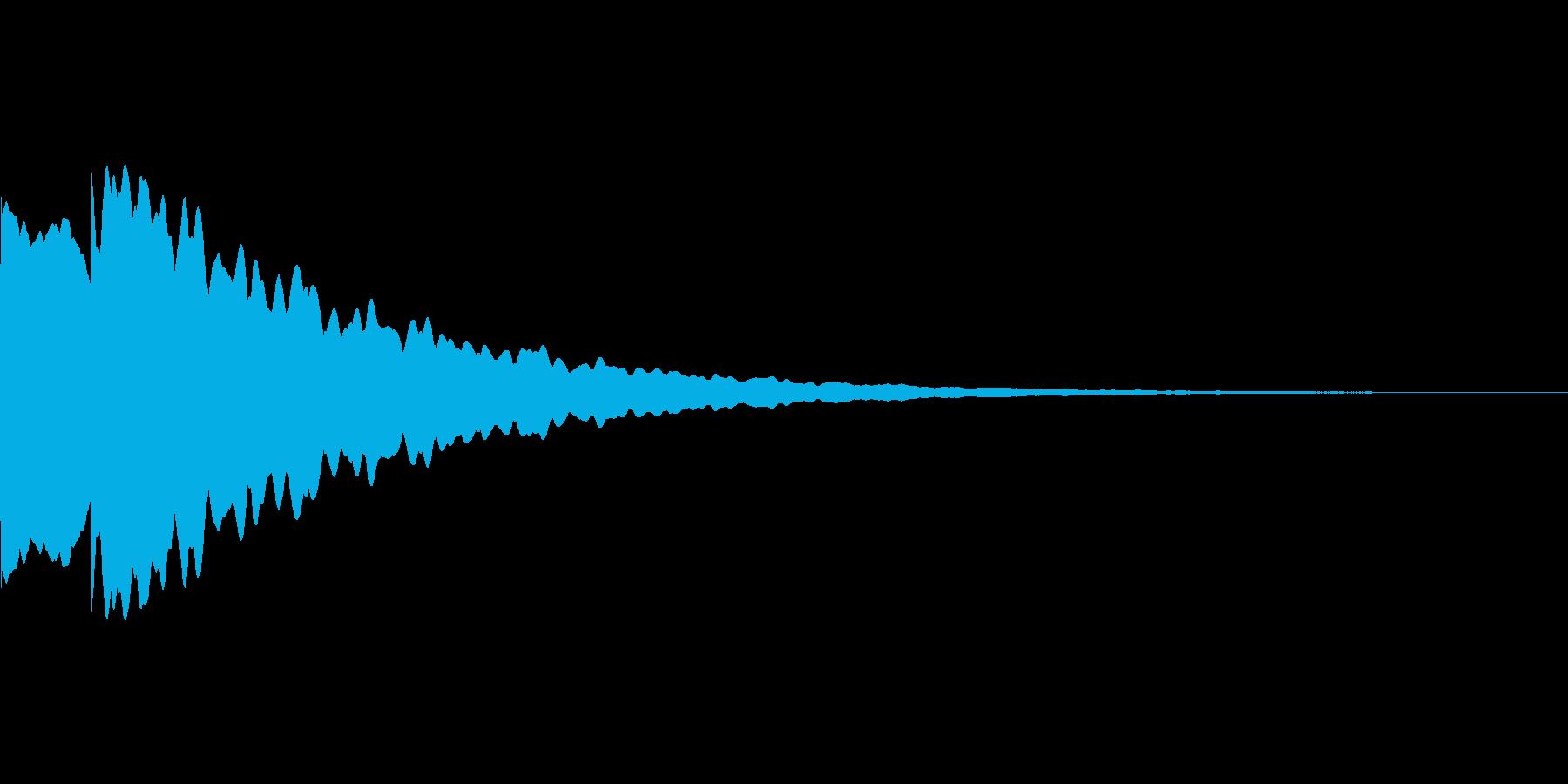 光イメージ音 ピキーン_02_モノの再生済みの波形