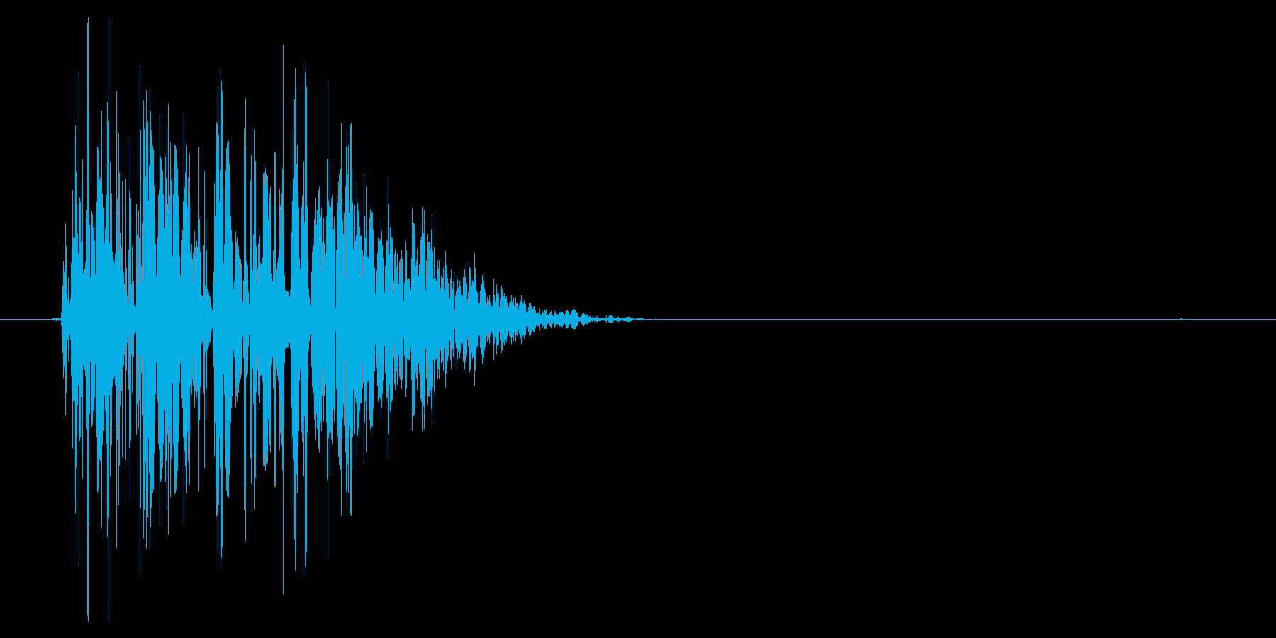 ドゴッ(タックル、体当たり、ダメージ)の再生済みの波形