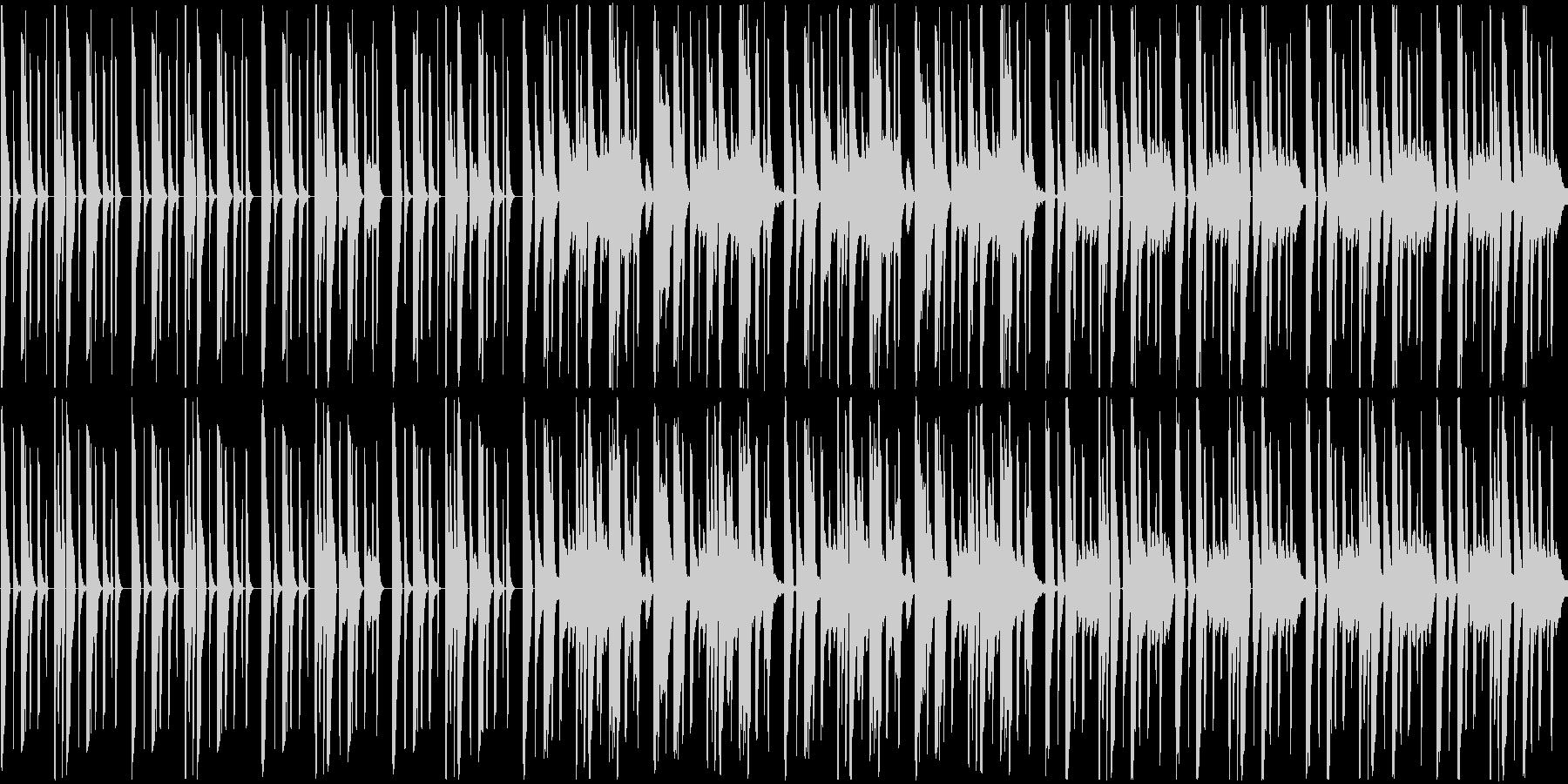 軽やかな曲ですの未再生の波形