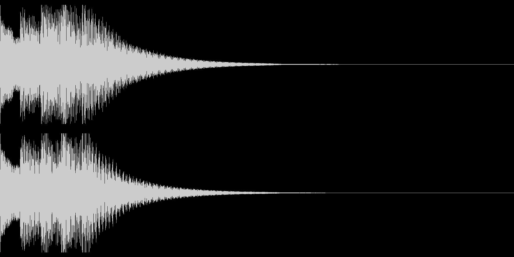 アイテム取得音2の未再生の波形