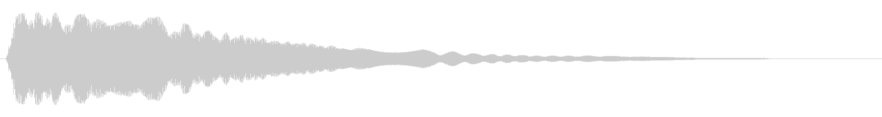 キーン(金属を叩いた音)の未再生の波形