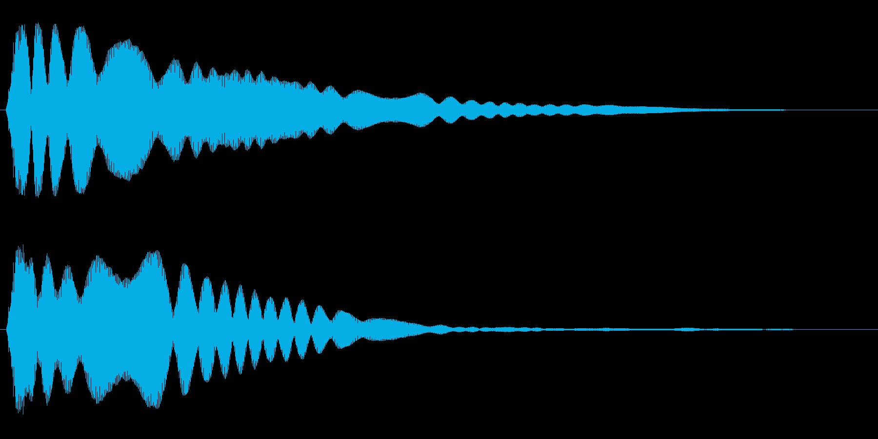 キーン(金属を叩いた音)の再生済みの波形
