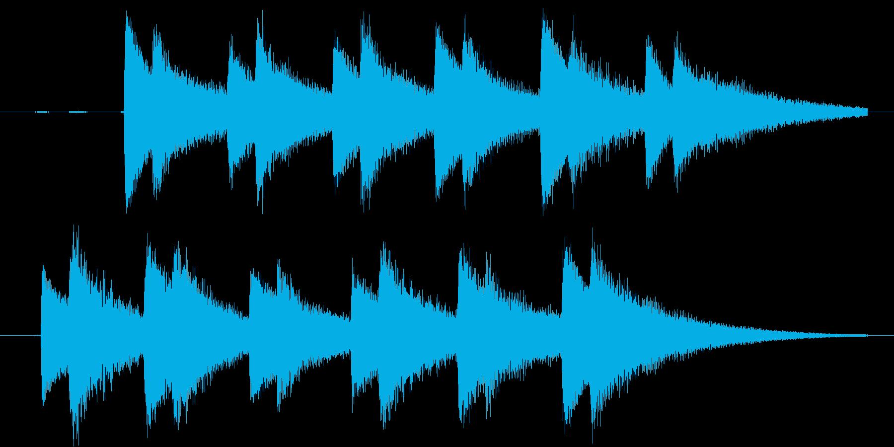 チャリン×複数(コイン沢山)の再生済みの波形