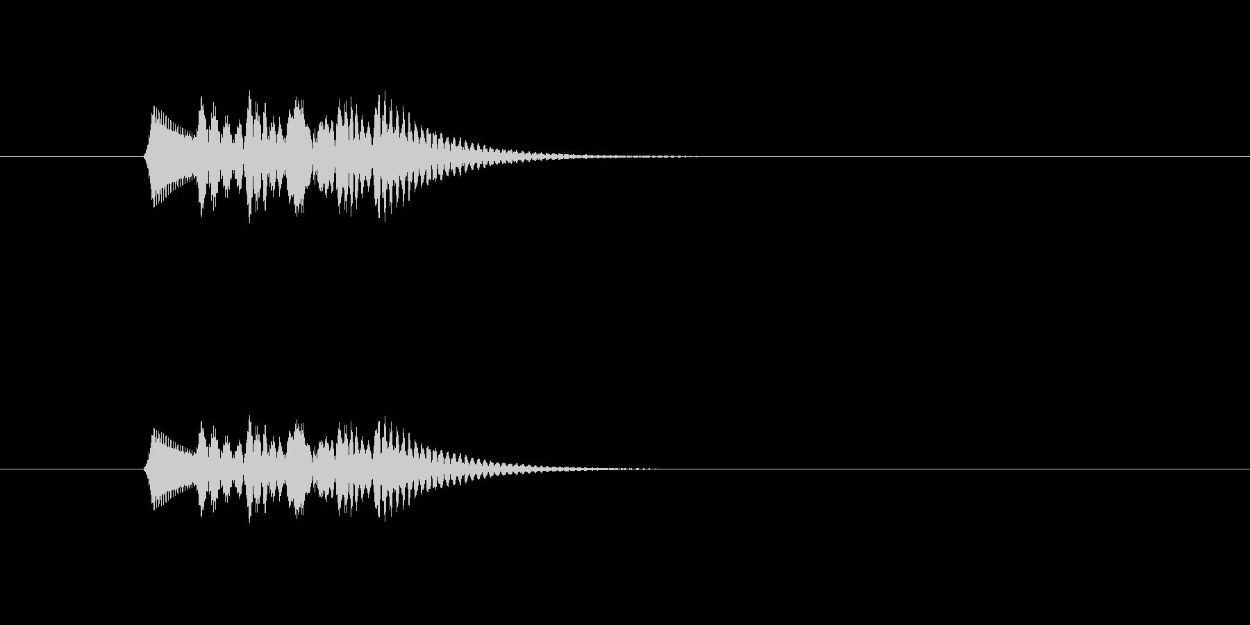 ポロロロロン(ピアノの音)の未再生の波形