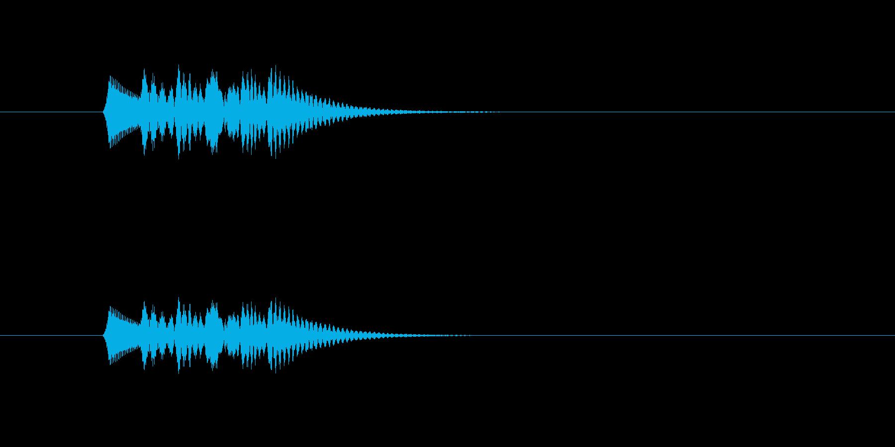 ポロロロロン(ピアノの音)の再生済みの波形