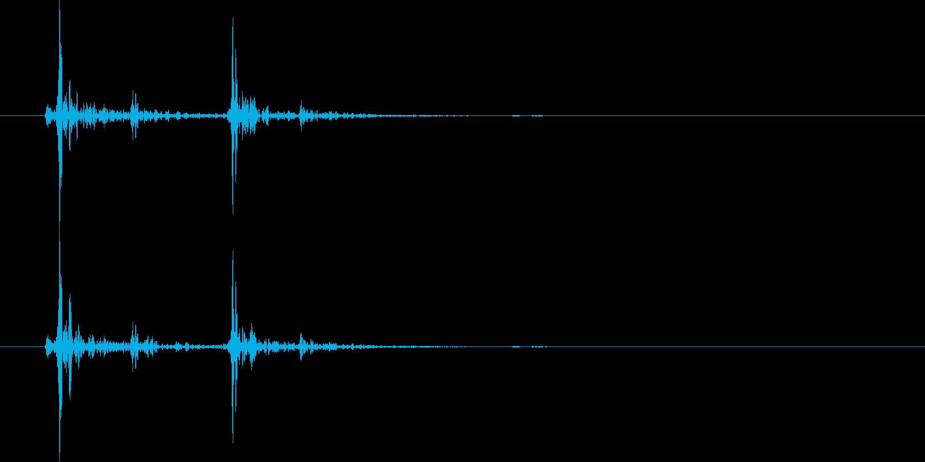 馬が走る時の足音(1回、蹄、駆ける)の再生済みの波形