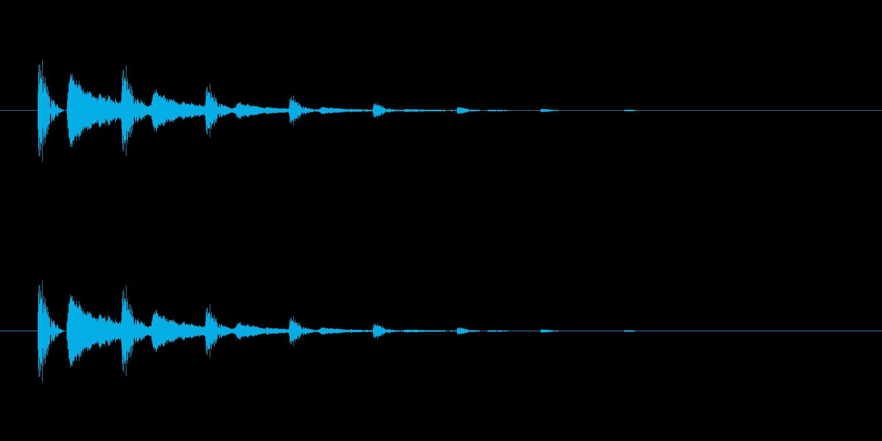 【びっくり05-4】の再生済みの波形