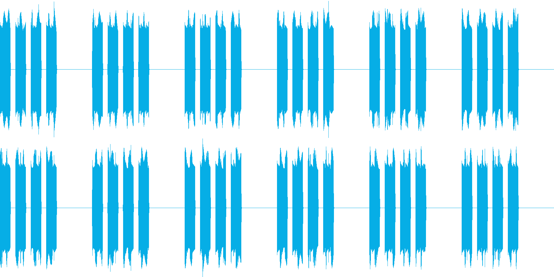 ピピピピッ..。携帯の着信音B(長め)の再生済みの波形