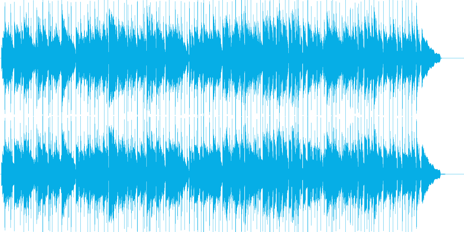ほのぼのしたエレピの曲。雰囲気を出す用途の再生済みの波形