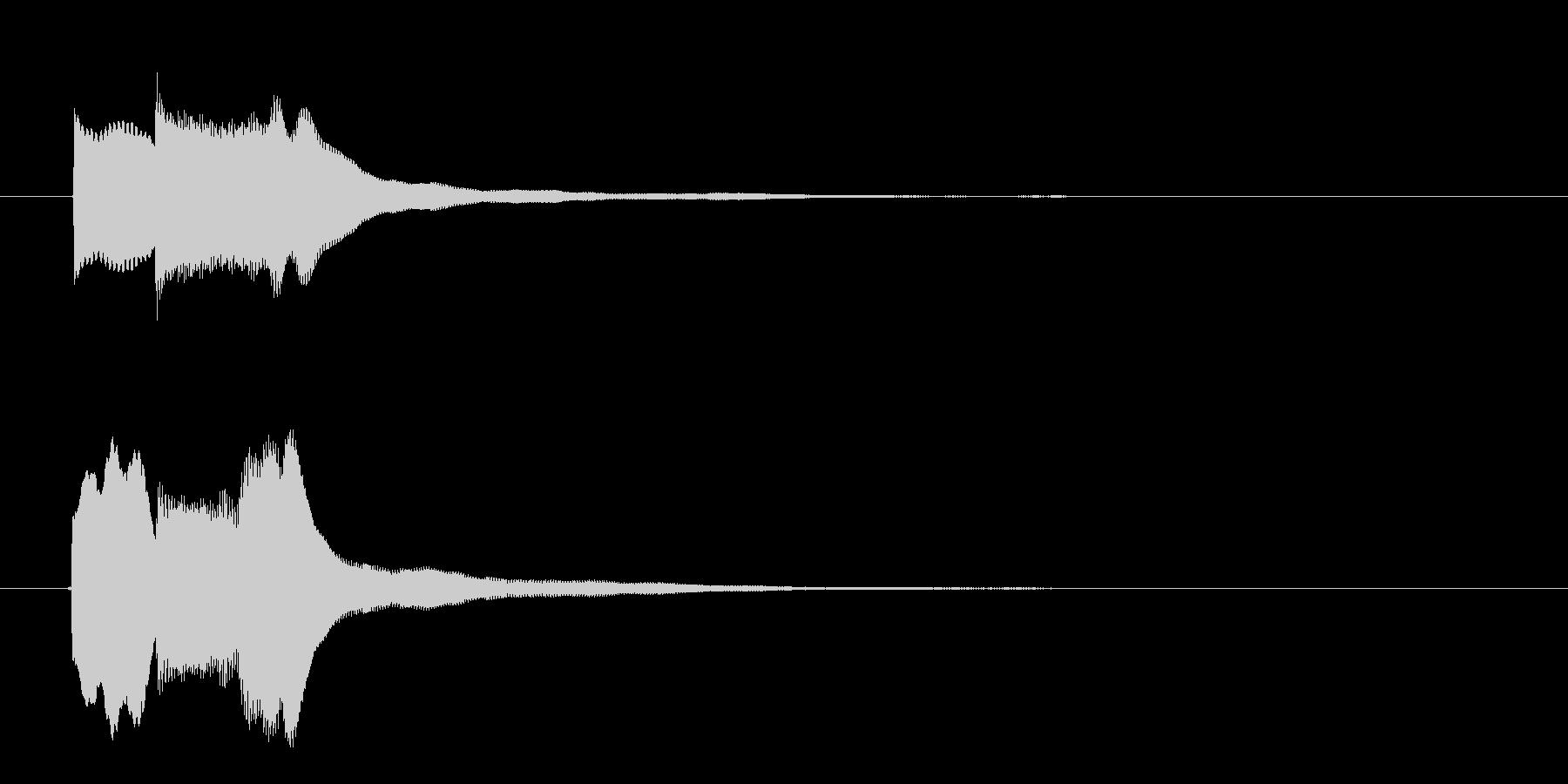クイズ回答早押しピンポンの未再生の波形