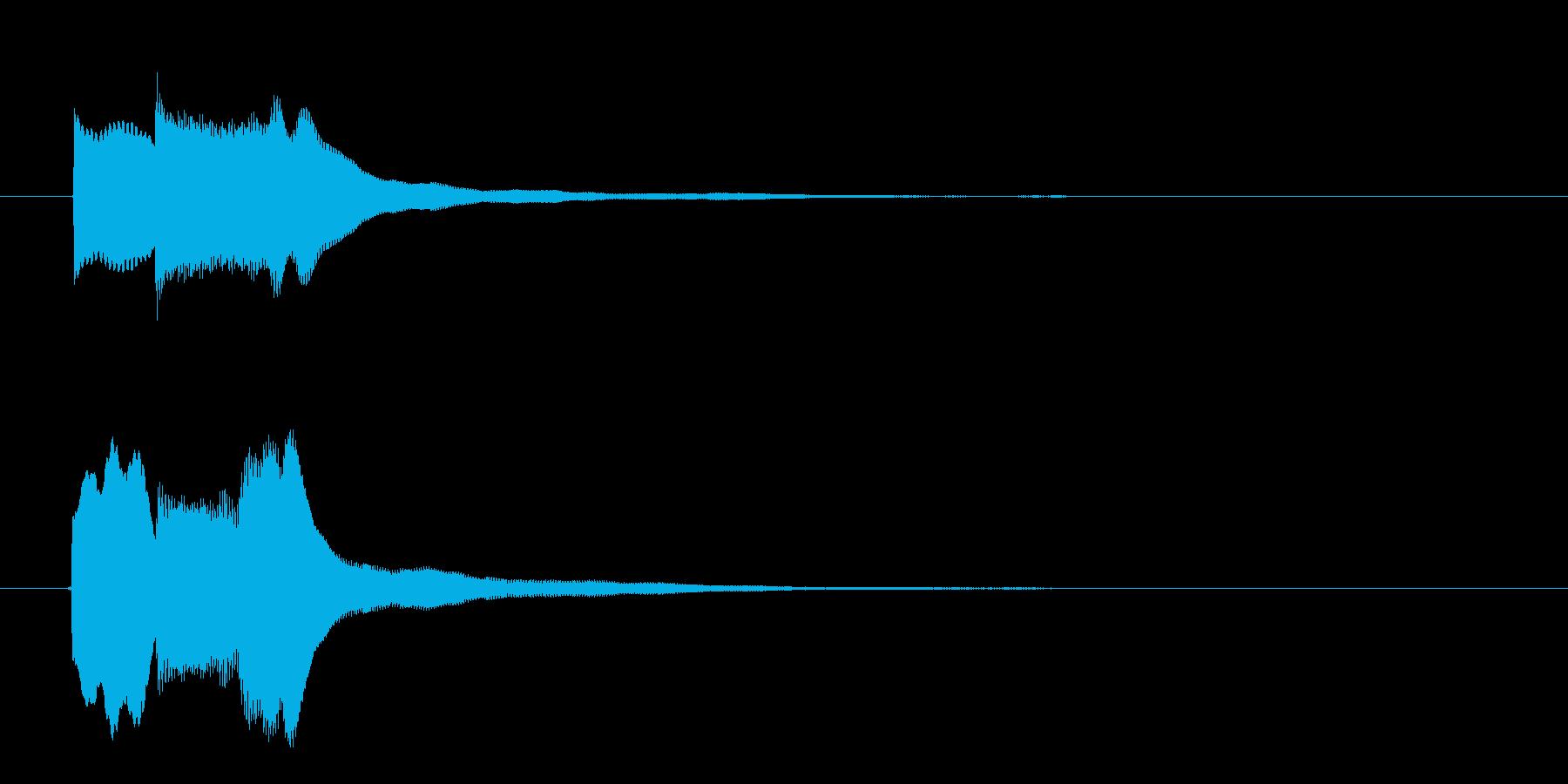 クイズ回答早押しピンポンの再生済みの波形