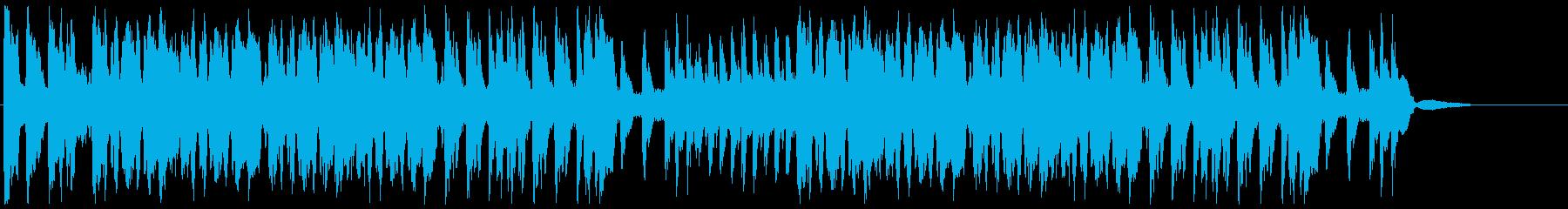 吹奏楽:応援マーチの再生済みの波形