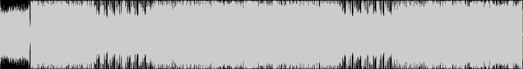 攻撃的で激しく重厚なヘヴィメタルループの未再生の波形