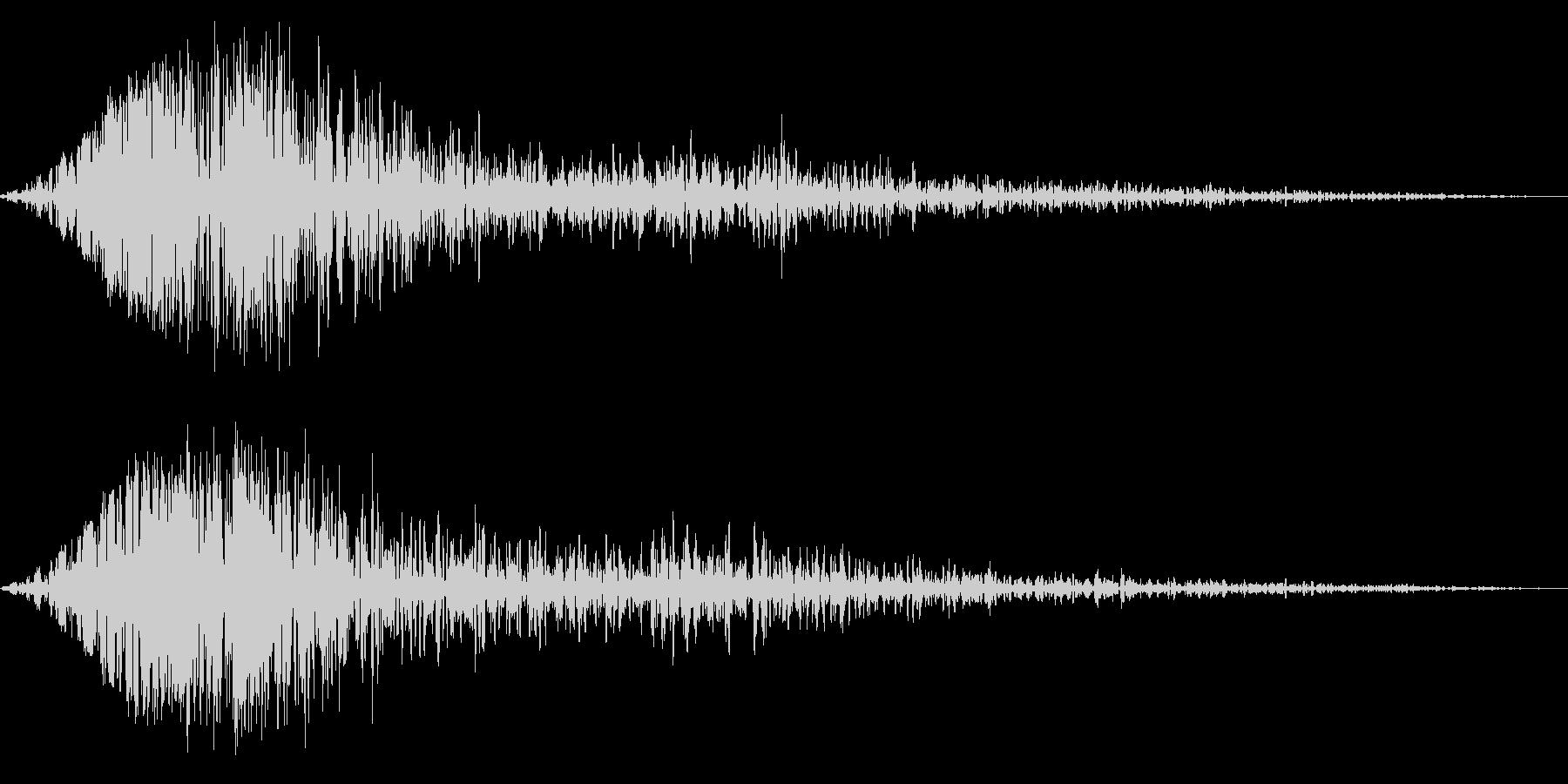 ブンッ(金属系効果音)の未再生の波形