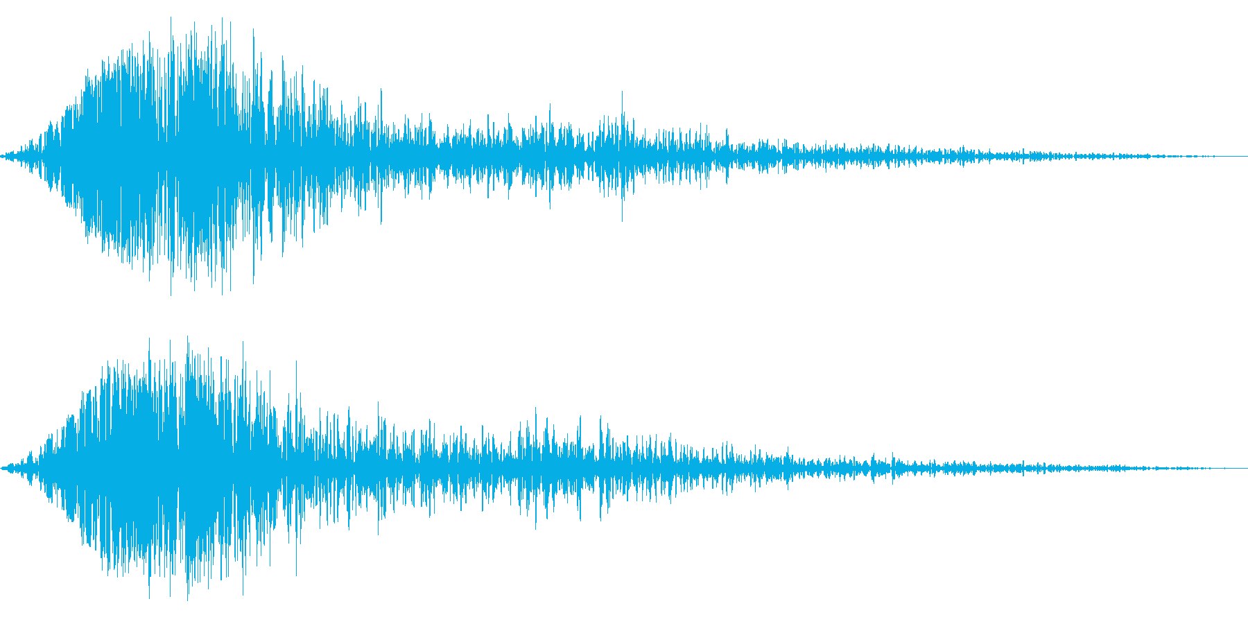 ブンッ(金属系効果音)の再生済みの波形