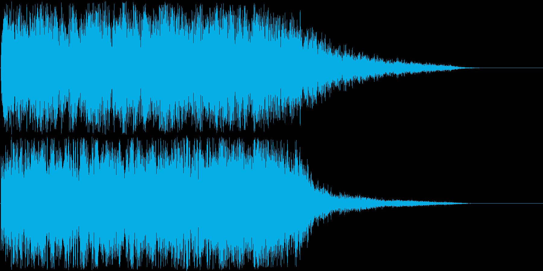怖い系効果音 ザワザワザワ… 不快!!の再生済みの波形