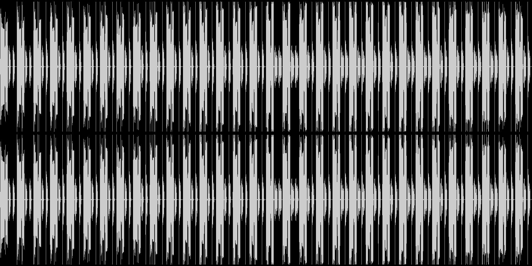 暗い曲で、繰り返しが多い単純な曲ですの未再生の波形