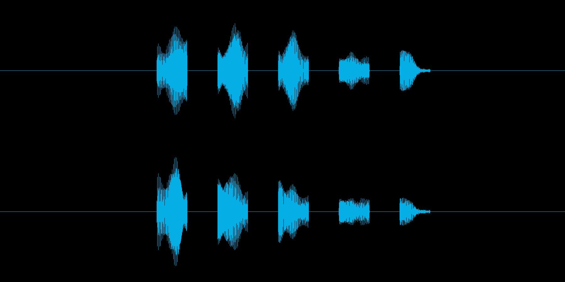 キャラの会話音(高め)の再生済みの波形