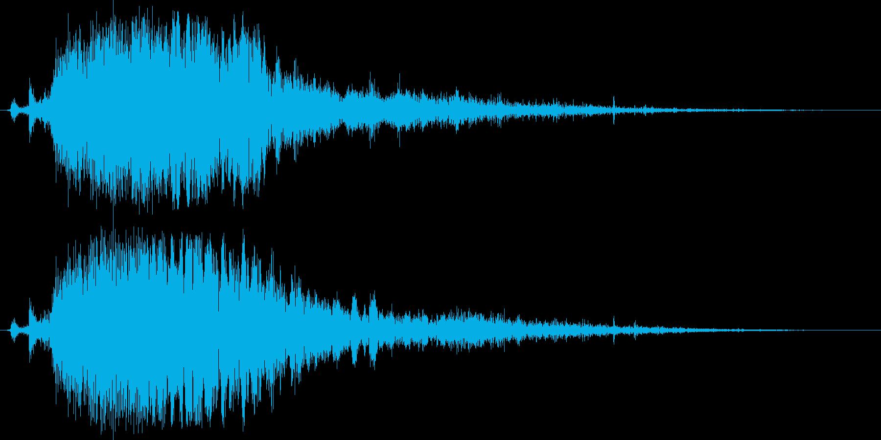 刀や剣の抜刀/斬撃のリアルな効果音10cの再生済みの波形