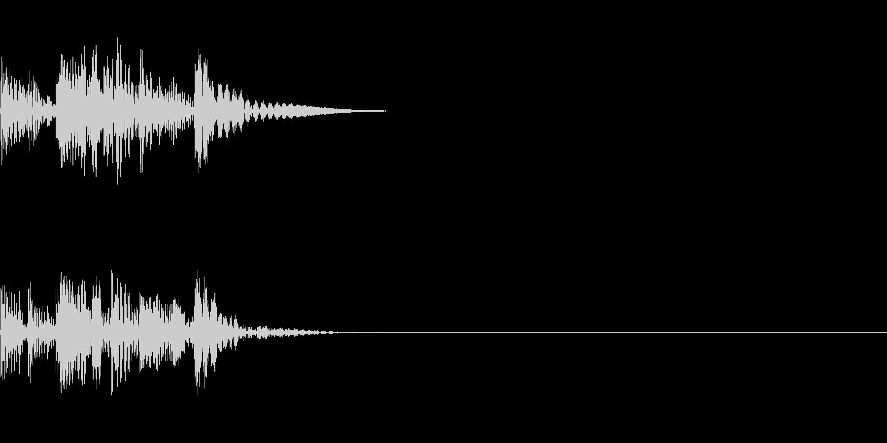 シーン切り替えの未再生の波形