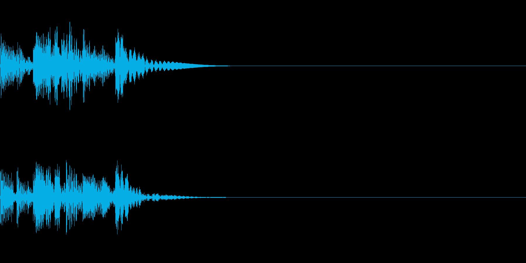 シーン切り替えの再生済みの波形