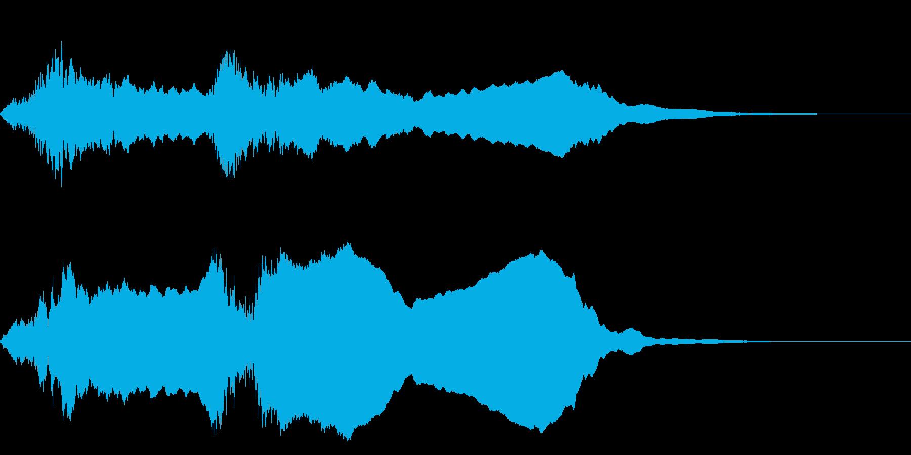 ホラ貝の効果音(合戦、和風の演出などに)の再生済みの波形