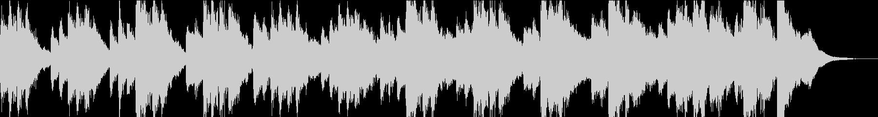 ゆったりとした雰囲気のピアノループの未再生の波形