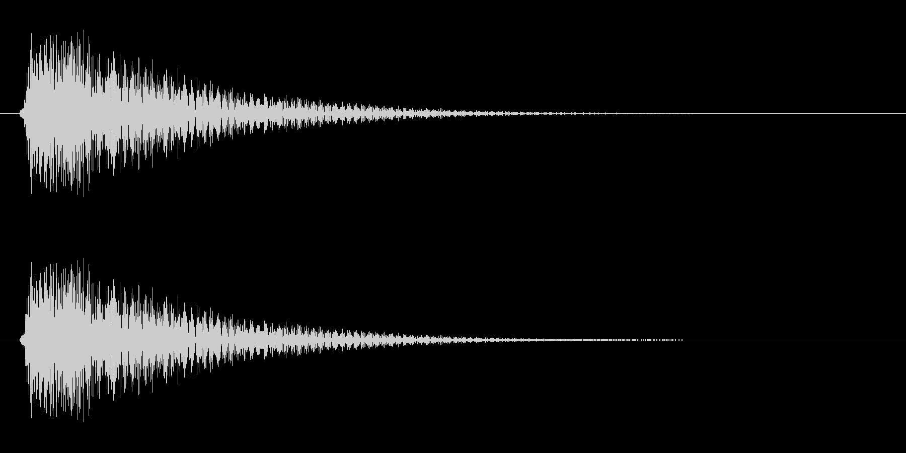 チュカン(短めの音色)の未再生の波形