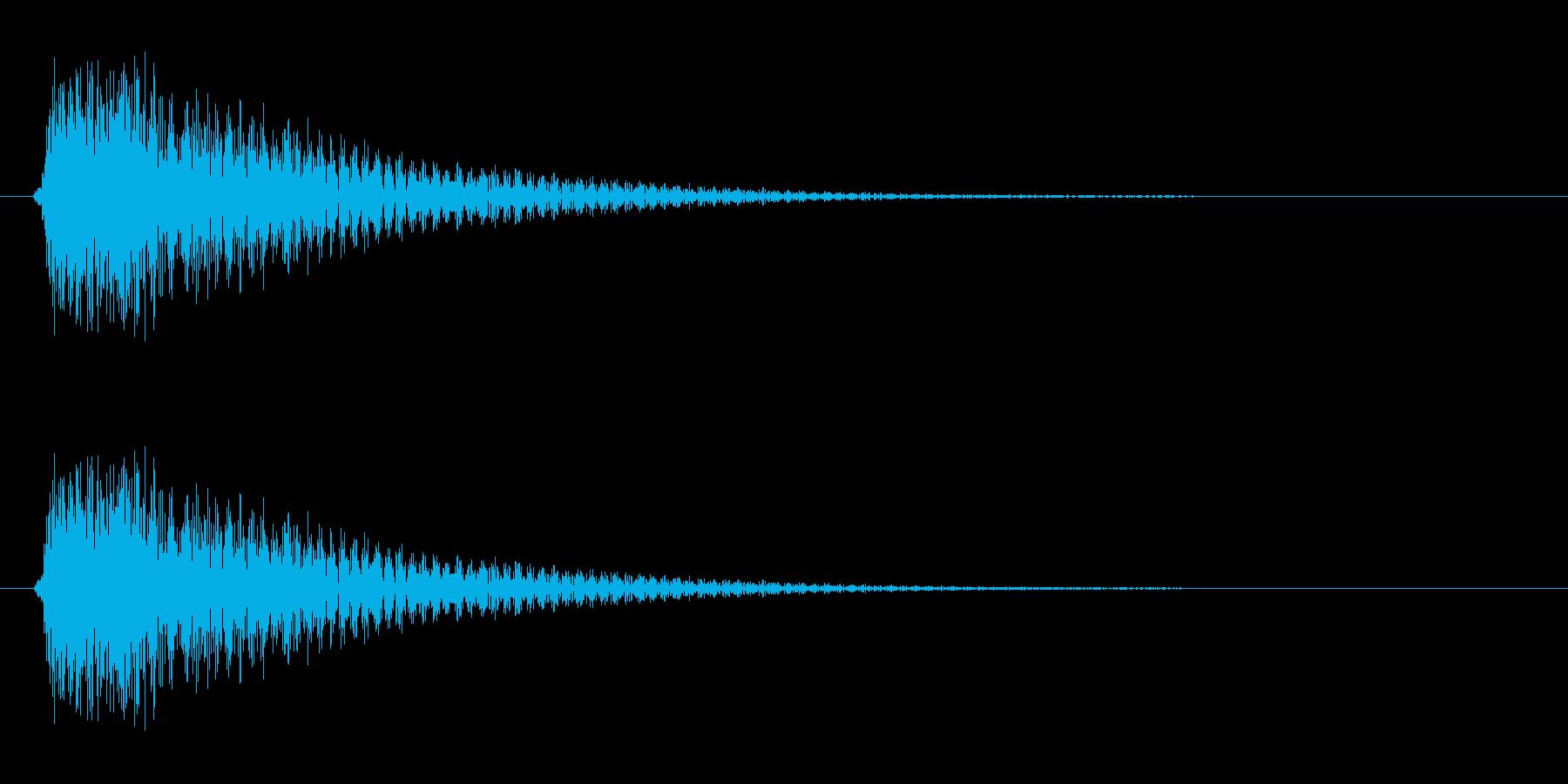 チュカン(短めの音色)の再生済みの波形