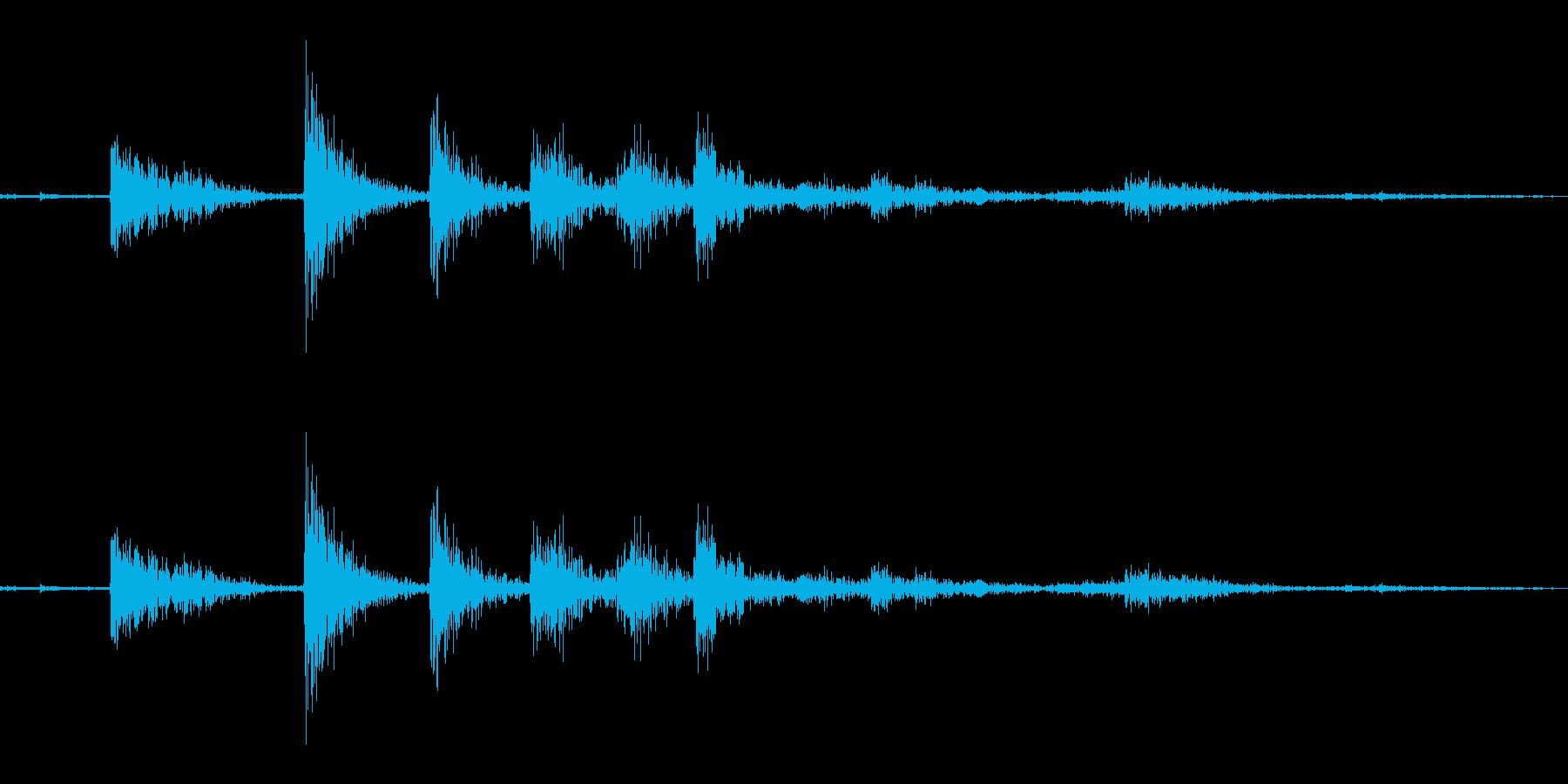 カタンの再生済みの波形