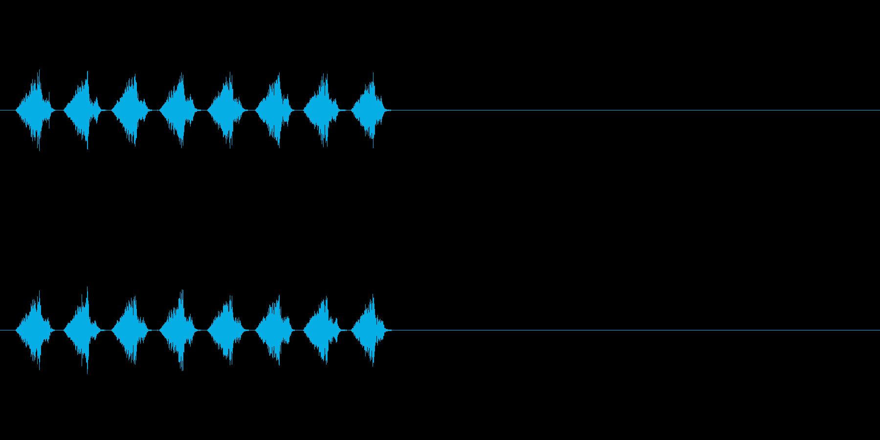 シャシャシャ…(カードを切る音、配る音)の再生済みの波形