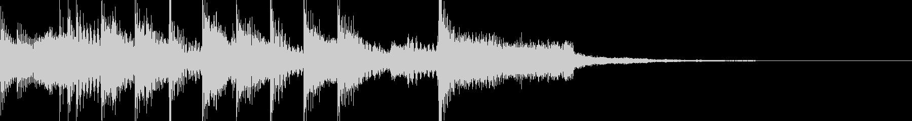 場面転換、シーンの締めくくりの音の未再生の波形