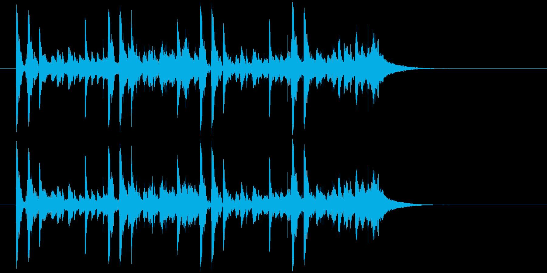 効果音を含んだコミカルなジングルの再生済みの波形