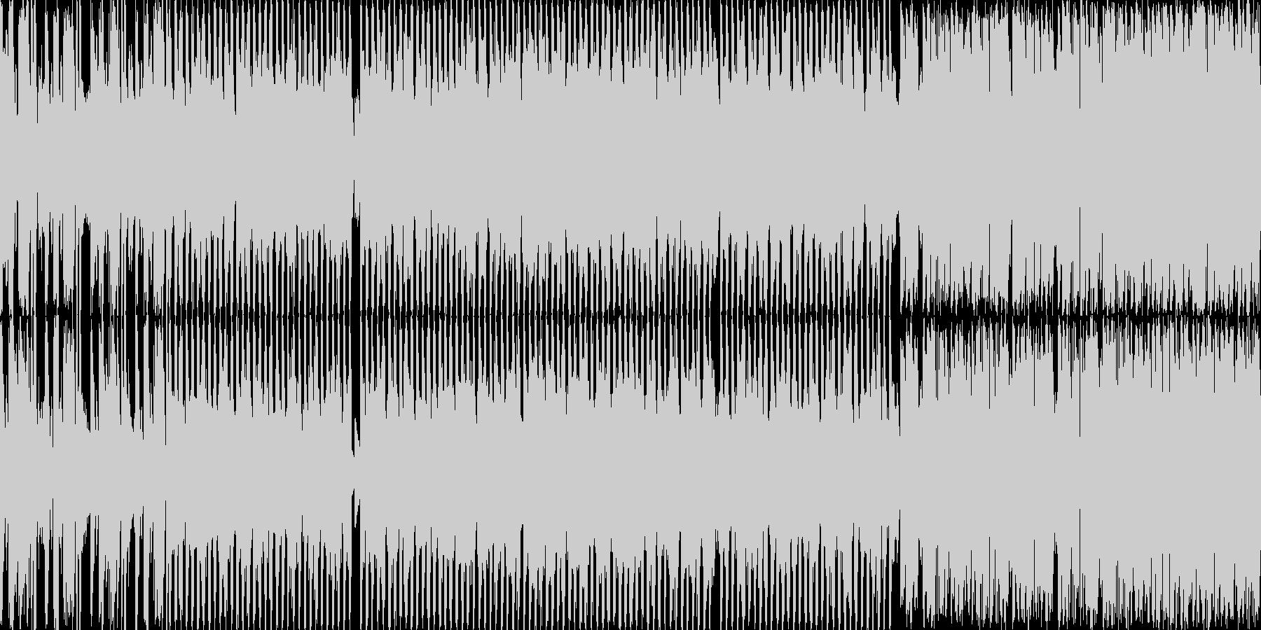 戦闘シーンのBGMの未再生の波形