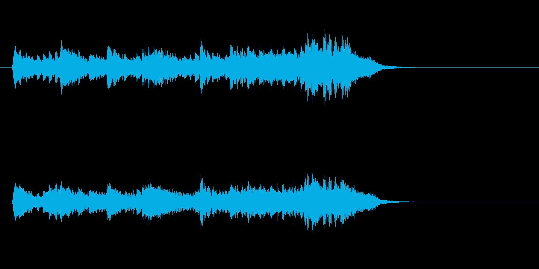 感傷的なピアノバラード(イントロ)の再生済みの波形