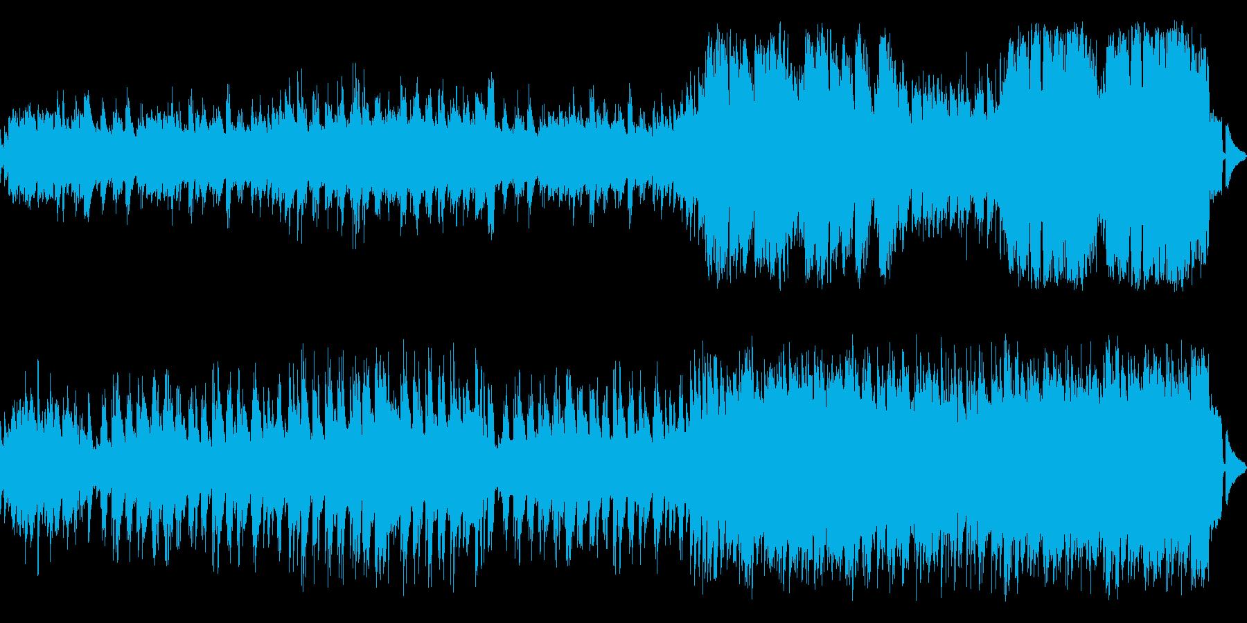 穏やかで優しいメロディアスなピアノワルツの再生済みの波形