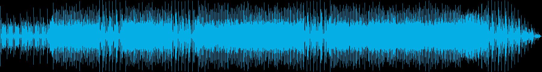 映像を邪魔しないクールなバンド系BGMの再生済みの波形