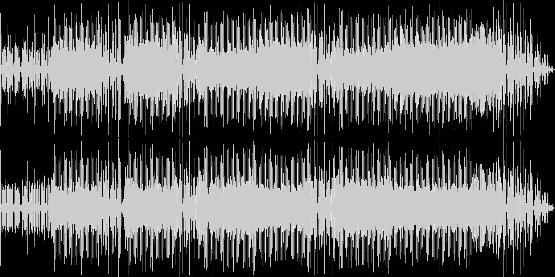 映像を邪魔しないクールなバンド系BGMの未再生の波形