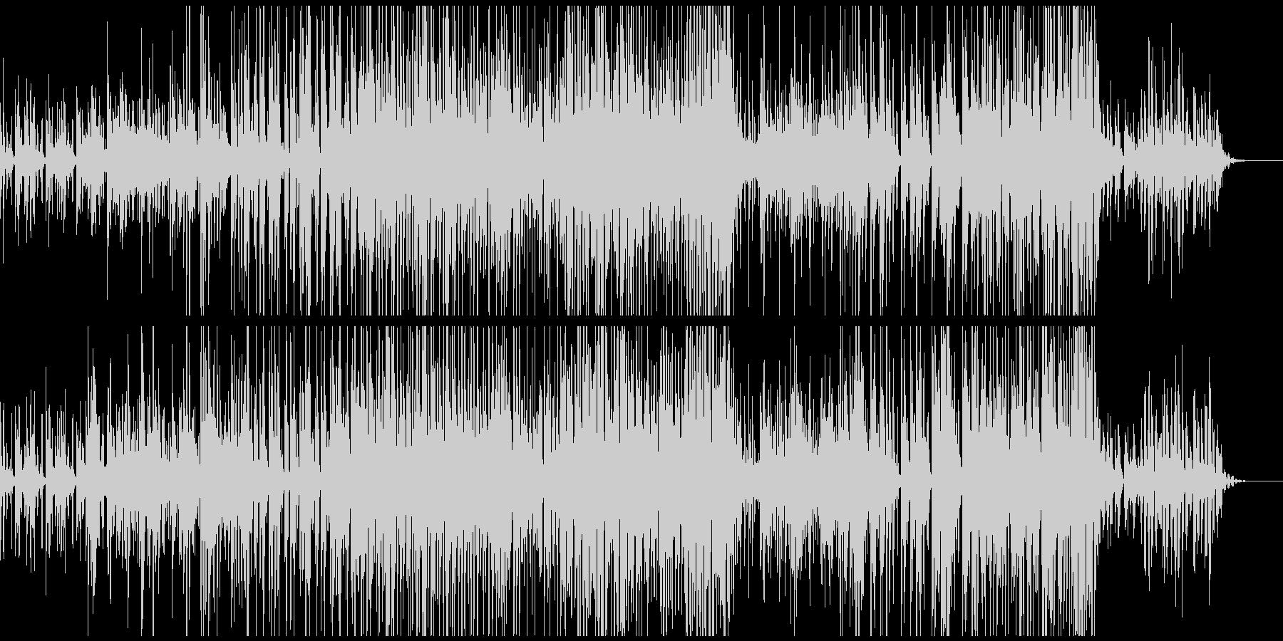 未来っぽい雰囲気のBGMの未再生の波形